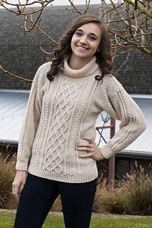Free pattern on Ravelry Elysian Lattice Knit Sweater Cascade