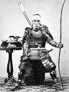 Samurai holding a yumi.