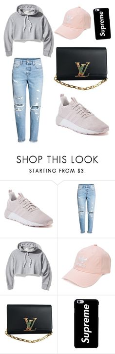 """""""Adidas x designer"""" by alyssapreps on Polyvore featuring adidas, H&M, Frame and Louis Vuitton"""