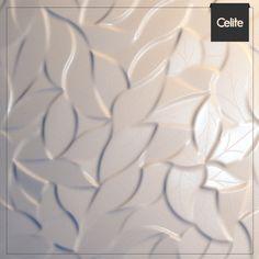 Uma novidade incrível para os fãs de revestimentos diferenciados: as peças de relevo orgânico, como os insertos decorados da série Fler, da Incepa, que trazem delicadeza e harmonia à decoração. #celite #decor #incepa