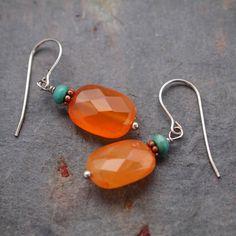 Turquoise and Carnelian Earrings леденчики