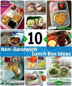 10 non-sandwich school lunch ideas your kids will love via MOMables.com #schoollunch #lunchbox #mealplan