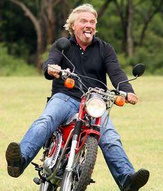 Billionaire Richard Branson, and a lemur on a motorcycle Ferrari F1, Honda Cub, Gypsy Living, Gucci, Richard Branson, Vintage Motorcycles, Honda Motorcycles, Classic Bikes, Celebs