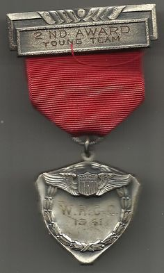 WW II Army Air Corp medal in sterling