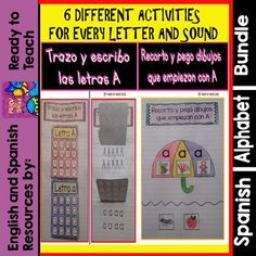 Interactive Notebook in Spanish - The Spanish Alphabet - Bundle for 1 year