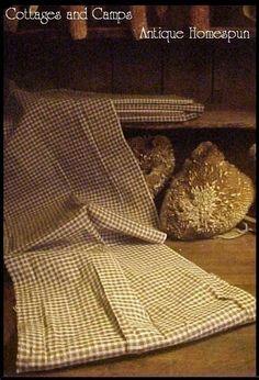 Early Brown White Check Homespun 19th C Antique Plaid Fabric AAFA | eBay