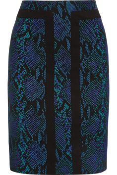 This is a very traditional pencil skirt but the pattern is dramatic and exotic.