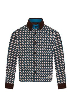 Boys African Print Winter Shirt  ShweShwe 100% Cotton.   Made in South Africa. Ships Worldwide