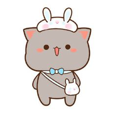 Cute Cartoon Images, Cute Couple Cartoon, Cute Love Cartoons, Cute Cartoon Wallpapers, Cute Animal Drawings, Kawaii Drawings, Cute Drawings, Cute Anime Cat, Cute Cat Gif