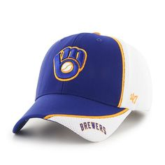 9ce77fbb1c1 Milwaukee Brewers Harrow MVP Royal 47 Brand Adjustable Hat. Detroit GameMilwaukee  BrewersMlbBaseball HatsBaseball ...