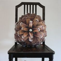 Pine cone pillow made to order by Plantillo on Etsy. A pillow! such a cool idea!