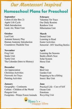 A weekly outline of our Montessori at home preschool plans years). Plus, links to practical life skills, Montessori materials list, and free printables! These unit studies can be used for homeschool or after school fun activities to supplement learning. Homeschool Preschool Curriculum, Preschool Prep, Montessori Education, Preschool Lesson Plans, Preschool At Home, Preschool Learning Activities, Montessori Materials, Montessori Elementary, Home Preschool Schedule