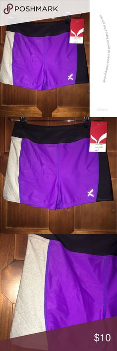 BNWT Fabulous Capezio Girls Logo short BNWT Capezio Short..perfect for Dance, Gymnastic or Fashion...great color combo with a subtle silver sparkle. comes with matching scrunchy Capezio Bottoms Shorts