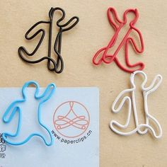 PK194*12pcs into Blister Card Shaped Fancy Wire Paper Clips