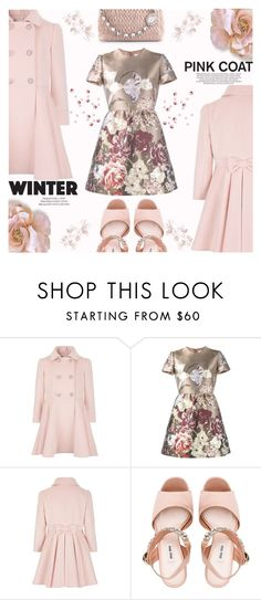 """""""Hey, Girl: Pretty Pink Coats"""" by shoaleh-nia ❤ liked on Polyvore featuring Valentino, Miu Miu and xO Design"""