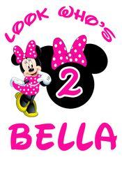 Minnie Mouse Birthday Iron On Transfer