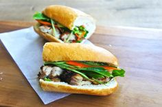 Banh Mi sandwiches, home made ! I'll finally be able to moderate the heat in those and eat it ! :) Did it, loved it ! :)