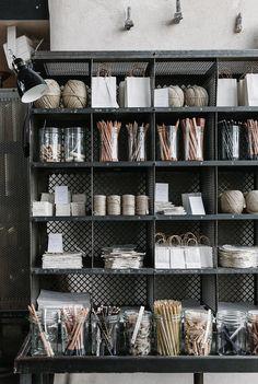 rustic storage in Baileys Homeware, Bridstow, UK, (for Cereal Magazine) Cereal Magazine, Magazine Rack, Retail Shelving, Office Shelving, Office Storage, Store Displays, Retail Displays, Merchandising Displays, Window Displays