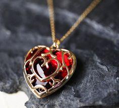 Zelda Heart Container Necklace Legend of Zelda by froshjewels