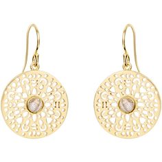 Monsoon Filigree Disc Short Drop Earrings ($39) ❤ liked on Polyvore featuring jewelry, earrings, drop earrings, disc earrings, filigree earrings, iridescent jewelry and disc jewelry
