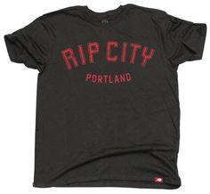 Portland Trail Blazers 'Rip City' Ridgemont Cornbread Super Soft Vintage Washed Tee - Black