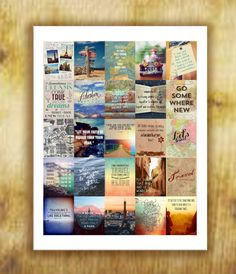 Travel Quotes Stickers for your Life Planner  by RemanDesignStudio