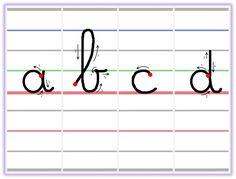Voici le fruit d'un long questionnement mené autour du graphisme en CP. Par « graphisme » j'entends écriture pure (apprentissage du tracé des lettres). En effet, dans les IO du cycle 2, le terme « écriture » regroupe la partie graphisme, la production d'écrit et la copie. J'utilise donc ces « sous-termes » dans mon emploi du temps et mes menus. […] Alphabet Cursif, Alphabet Worksheets, Cursive Letters, Letter Formation, French Teacher, Pre Writing, Kids Learning Activities, Help Teaching, Alphabet