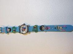 Dora Children Blue Cartoon PVC Band Quartz Wrist Watch Toy 348