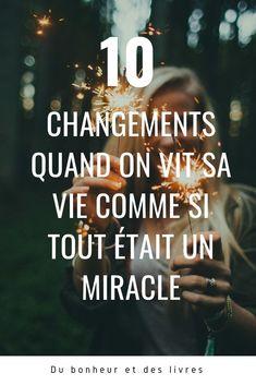 Vie Positive, Positive Attitude, Miracle, Motivation, Self Care, Gratitude, Confidence, Messages, Yoga