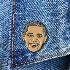 Barack Obama Enamel Pin, President, Soft Enamel Pin, Jewelry, Art, Gift (PIN71) by thefoundretail on Etsy https://www.etsy.com/listing/475988992/barack-obama-enamel-pin-president-soft