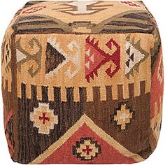 Decorative Southwestern Yellow Pouf | Overstock™ Shopping - Great Deals on Throw Pillows