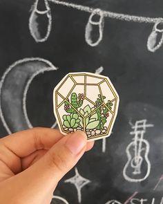 Cactus Succulent Laptop Sticker // Cactus Print // Cactus