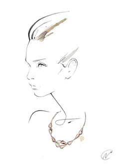 Fashion illustration - stylish fashion sketch // Nuno DaCosta