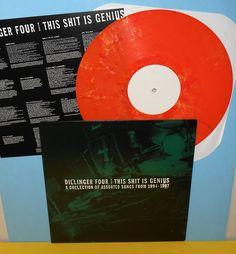 DILLINGER FOUR this sh*t is genius Lp Record ORANGE Vinyl with lyrics insert #punkAlternativeIndieHardRockPunkNewWave