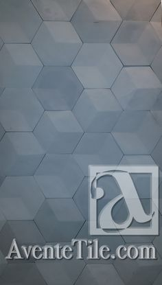 Elevations 3D Hexagon Relief Wall Tile Cement Tile | Encaustic Cement Tile | Avente Tile
