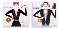 Limited Edition illustrated boxes  for Fauchon