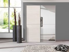 Bella sliding wardrobe (Sibiu Larch & Mirror) -