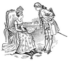 Good Manners ~ Free #Printable Victorian Couple Clip Art