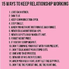 15 ways to keep relationship working