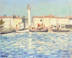 """Port de Cassis"" by Albert Marquet, Henri Matisse, Rio Sena, Rhone, South Of France, Painters, Sea Shells, Art Gallery, Auction, Illustrations"