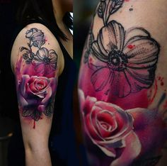 Abstract Flowers Tattoo by Timur Lysenko | Tattoo No. 12728
