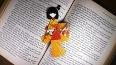 Your place to buy and sell all things handmade Cute Bookmarks, Paper Bookmarks, Red Packet, Japanese Origami, Light Crafts, Japanese Kimono, Chinese New Year, Purple Gold, Geisha