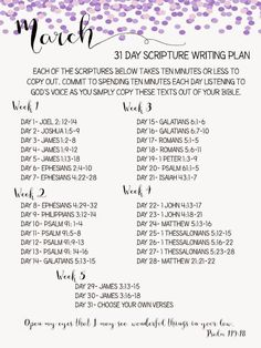 March Scripture Writing Plan