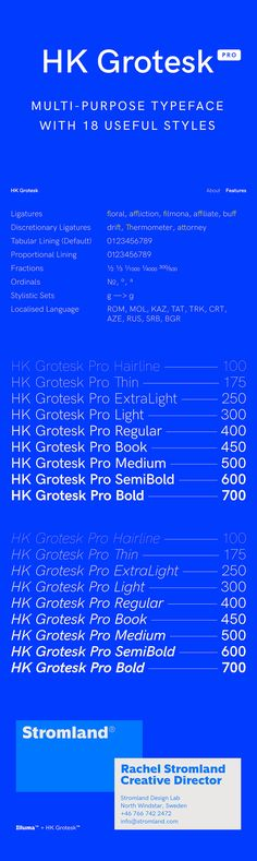 HK Grotesk Pro - HK Grotesk Pro is a sans serif typeface inspired by the classic grotesques. It is a multi-...