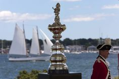 The America's Cup when it visited Newport, RI in July 2010