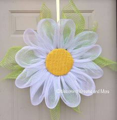Image result for how to make deco mesh and flowers spring wreath