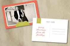 Holiday template, photo card template, postcard template, bittersweet design boutique