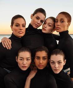 myqueengigi: Ashley Graham kendall jenner Gigi hadid Adwoa Aboah Liu Wen Imaan Hammam and Vittoria ceretti for Vogue USA March 2017