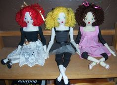 Custom Cloth Doll Handmade Cloth Doll Teen by HensWithoutChicks, $49.95