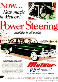 Meteor Car Advertisement Poster (1953)